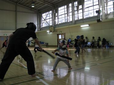 中村先生と小太刀対決